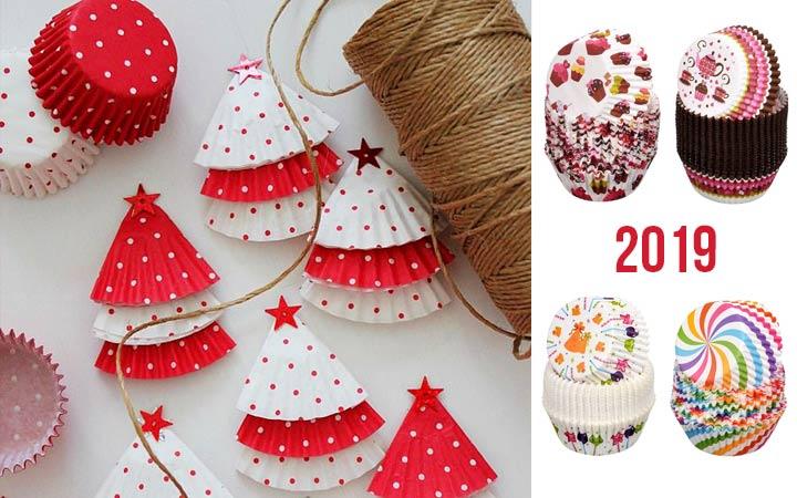 Новогодняя гирлянда из формочек для кекса