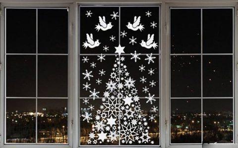 Снежинки на окна в 2019 году