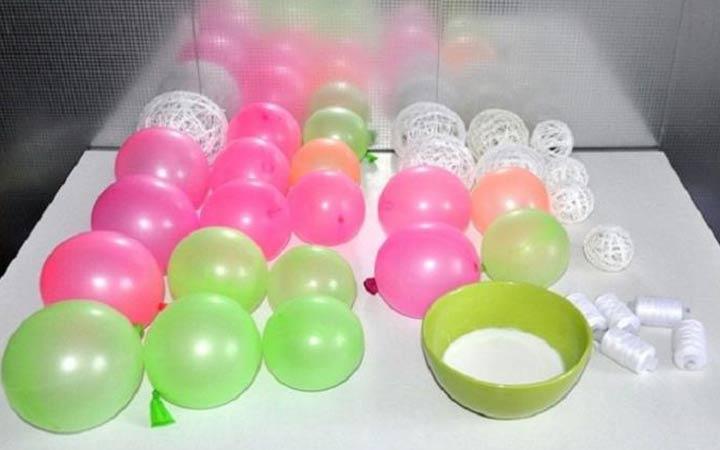 Как сделать нитяной шар для декорирования интерьера