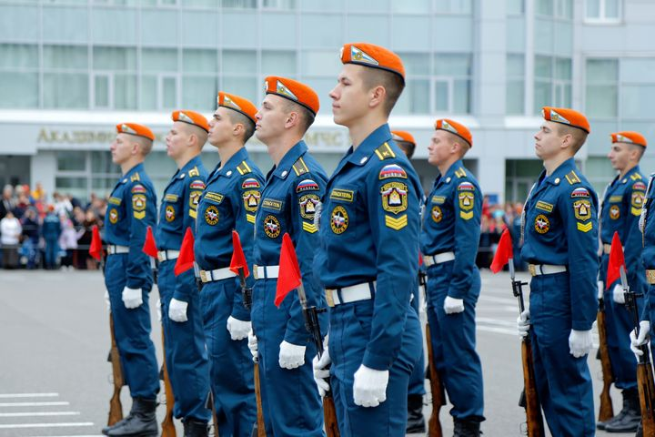 МЧС России на построении