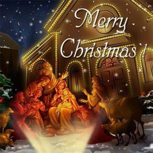 Универсальная рождественская открытка 2019
