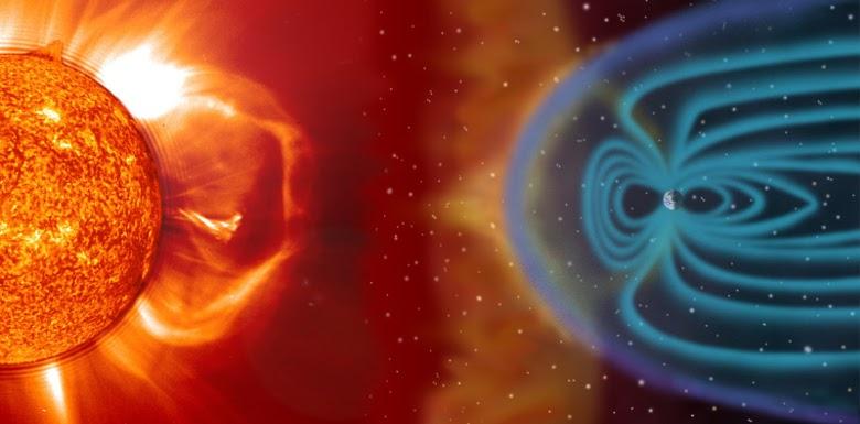 излучение солнца и магнитное поле земли