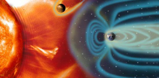 вспышка на солнце и магнитное поле земли