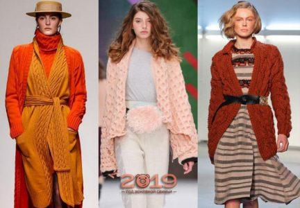Модные цвета кардиганов зима 2018-2019