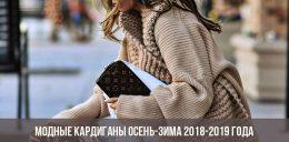 Модные кардиганы осень-зима 2018-2019 года