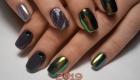 Блестящие ногти мода 2019 года