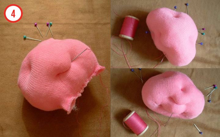 Свинка из колготок своими руками шаг 4