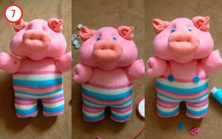 Свинка из колготок своими руками шаг 7