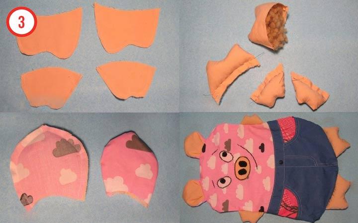 Этап №3 Свинка подушка своими руками