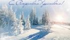 Открытка рождественская с природой на 2019 год