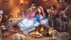 Рождество Христово традиционная открытка 2019 года