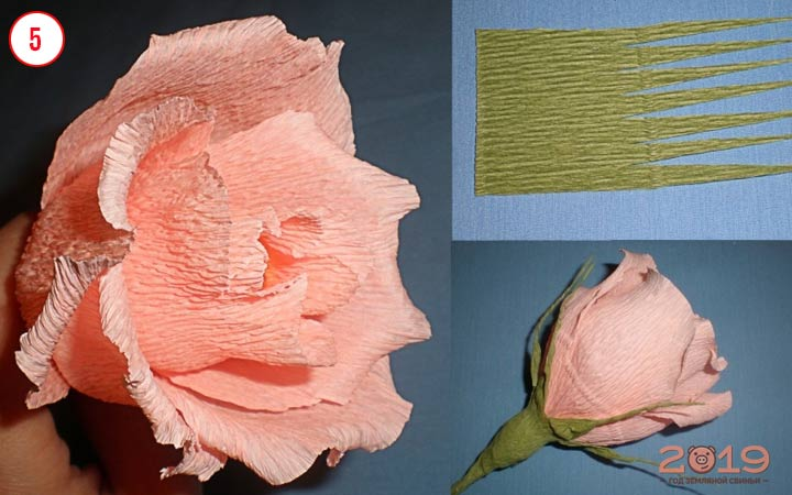 Цветы из конфет шаг 2