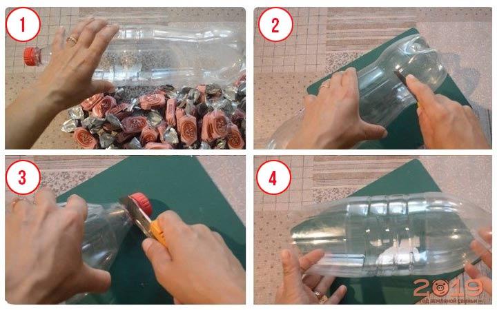 Поросенок из конфет шаг 1