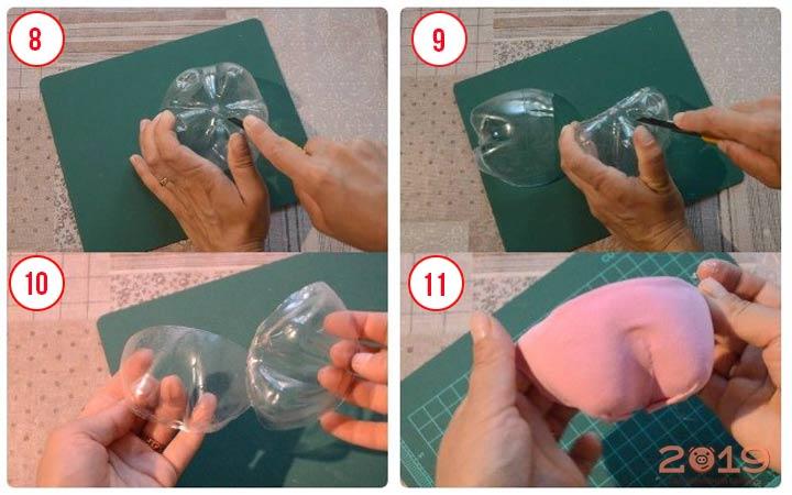 Поросенок из конфет шаг 3