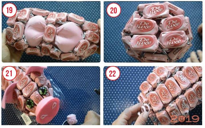 Поросенок из конфет шаг 6