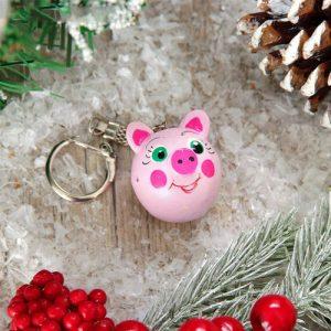 Брелок-свинка в подарок на новый 2019 год