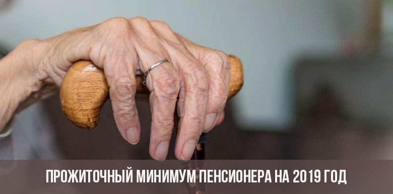 Прожиточный минимум пенсионера в 2019 году