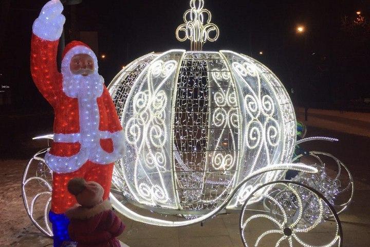 украшение улиц саратова к новому году