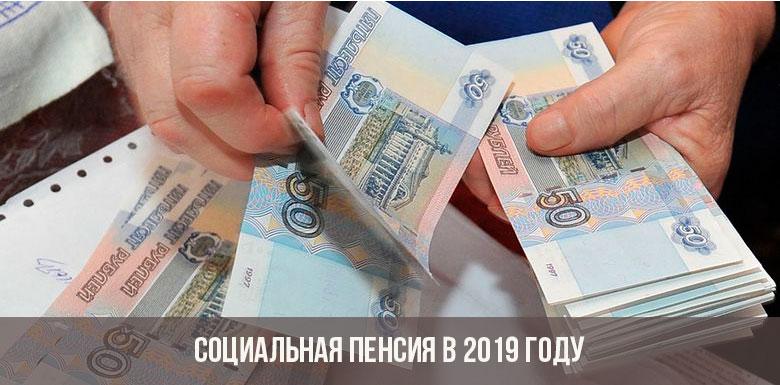 Социальная пенсия в 2019 году