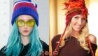 Креативные вязаные шапки