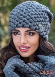 вязаные шапки осень зима 2018 2019 женские фото мода