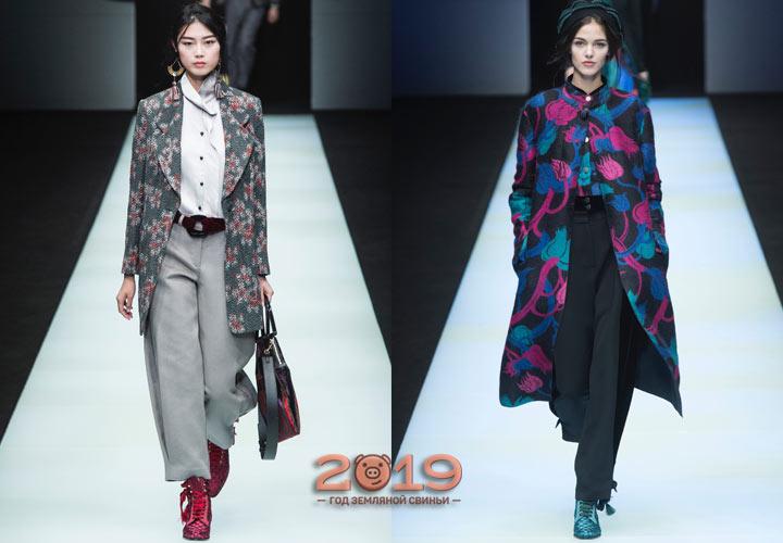 Цветочный принт коллекции Армани осень-зима 2018-2019