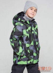 Зеленая мальчиковая куртка Crockid осень-зима 2018-2019