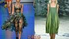 Модный зеленый сарафан 2019 года