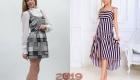 Сарафан в клетку и полоску мода 2019 года
