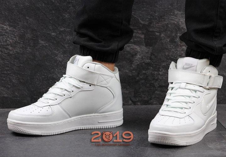 20115211 Модные белые кроссовки - мужская мода 2019 года