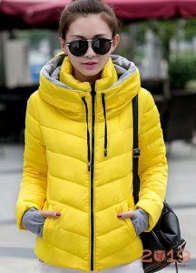 Модная женская куртка-ветровка осень-зима 2018-2019