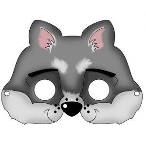 "Шаблон новогодней маски ""Волк"" на 2019 год"