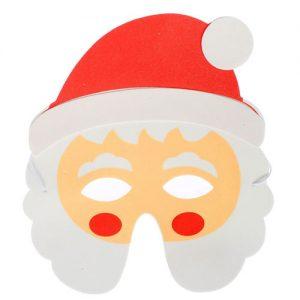"Шаблон новогодней маски ""Дед Мороз"" на 2019 год"