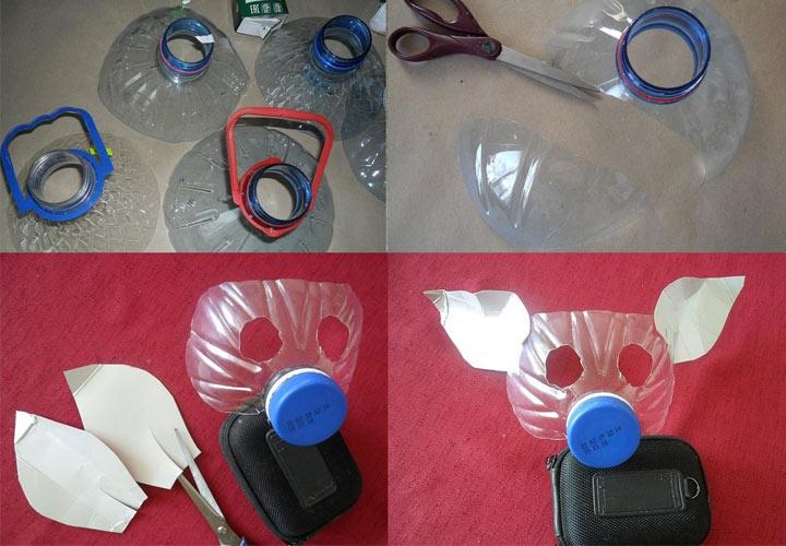 Новогодняя маска из пластика шаг 1