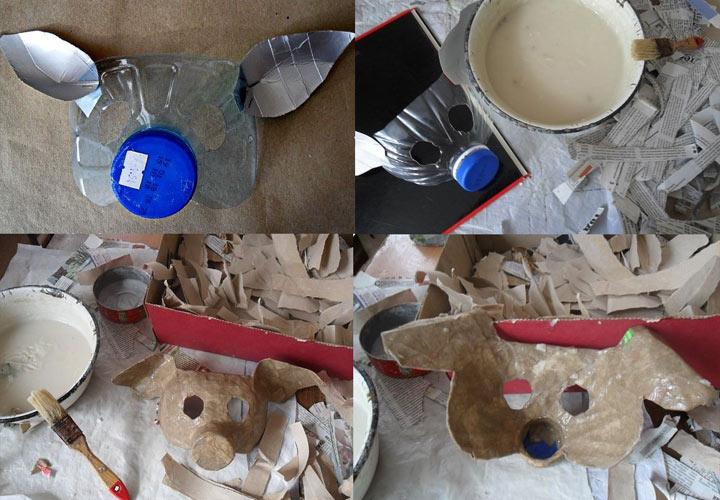 Новогодняя маска из пластика шаг 2