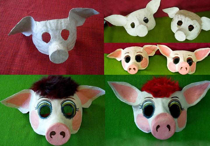 Новогодняя маска из пластика шаг 3