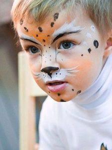Аквагрим леопард на Новый Год для мальчика
