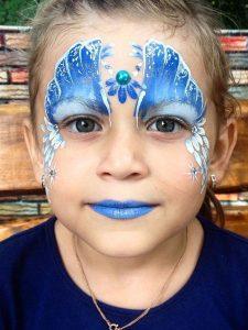 Аквагрим Снежная королева на Новый Год для девочки