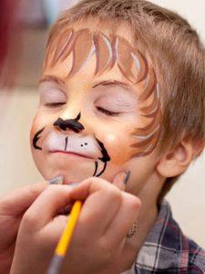 Аквагрим Тигр на Новый Год для мальчика