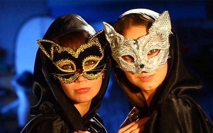 Карнавальная маска на Новый 2019 год из фоамирана