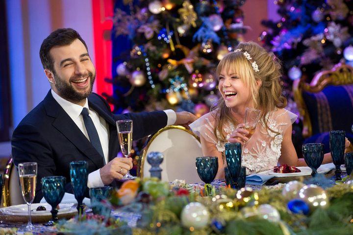 Съемки программы Новогодняя ночь на первом