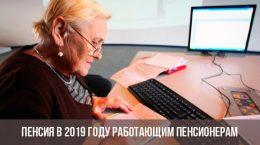Пенсия в 2019 году работающим пенсионерам
