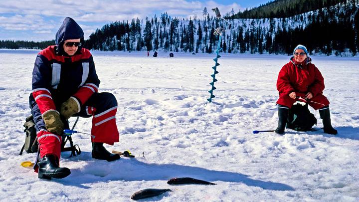 Рыбалка на Алтае зимой