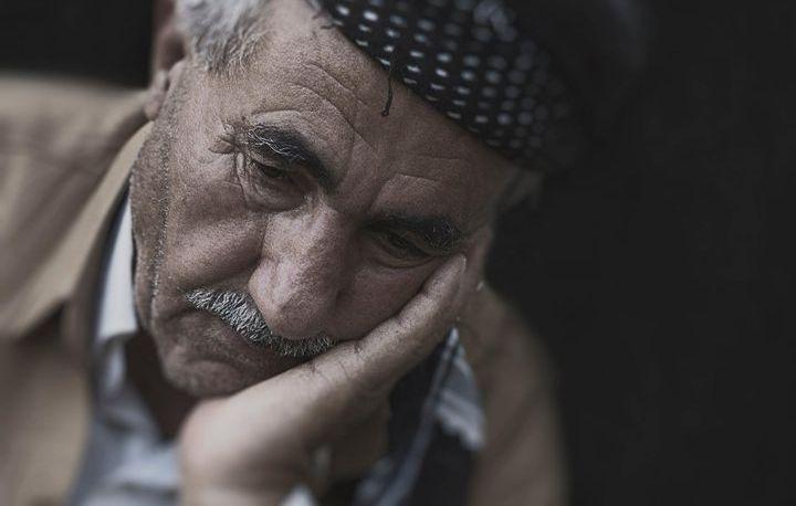 Грустный пенсионер