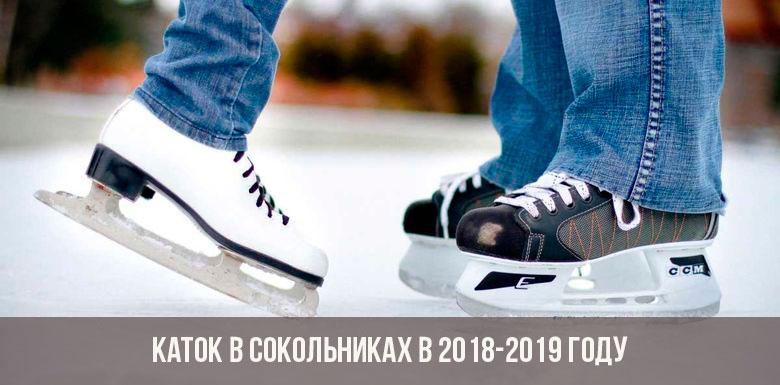 Каток в Сокольниках в 2018-2019 году