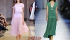 Платья с юбкой плиссе - мода 2019 года