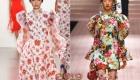 Модные платья с объемными рукавами на 2019 год