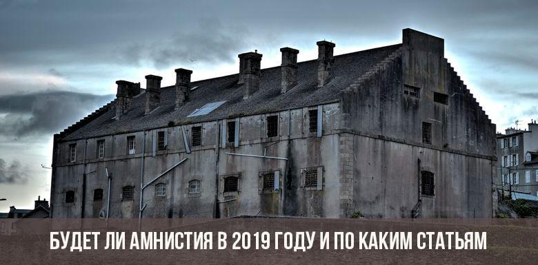 Будет ли амнистия в 2019 россии