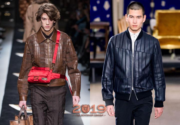Модные кожаные куртки сезона осень-зима 2019-2020