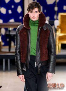 Куртка из кожи и меха осень-зима 2019-2020